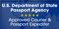 All couriers are government registered and authorized to expedite US Passports.